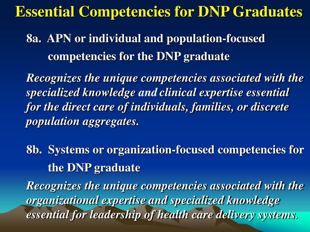 Essential Competencies for DNP Graduates