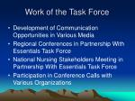 work of the task force29