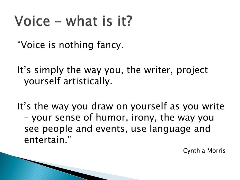 Voice – what is it?