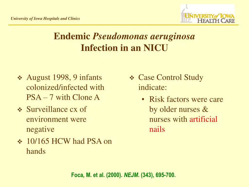 August 1998, 9 infants colonized/infected with PSA – 7 with Clone A