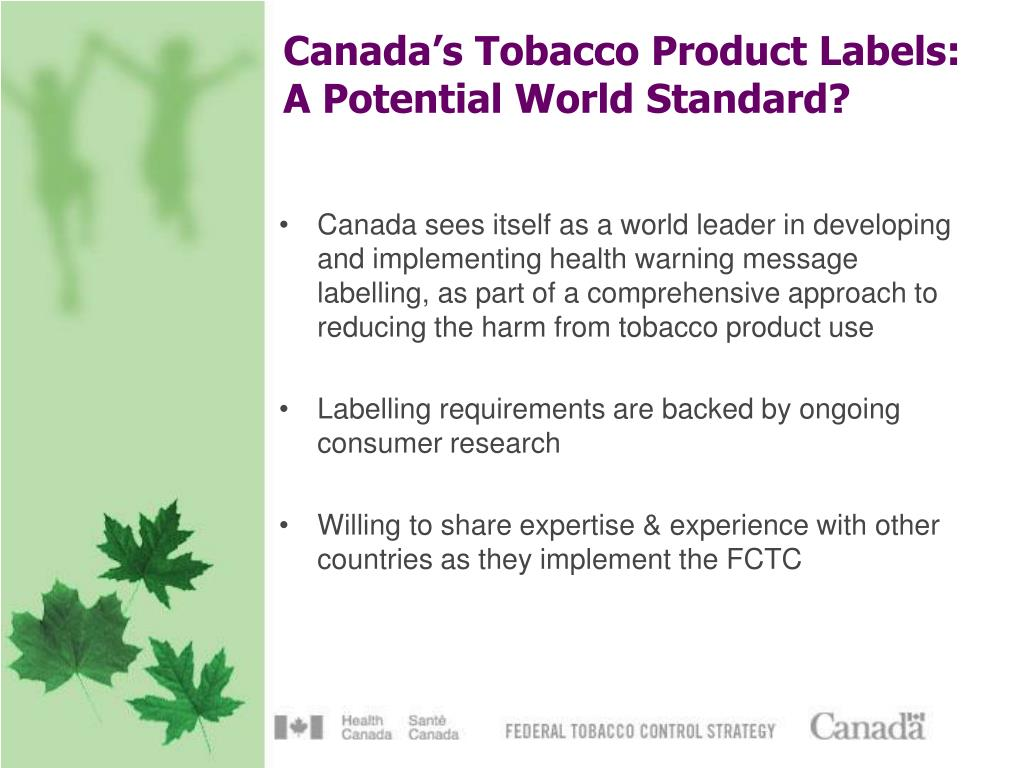 Canada's Tobacco Product Labels: