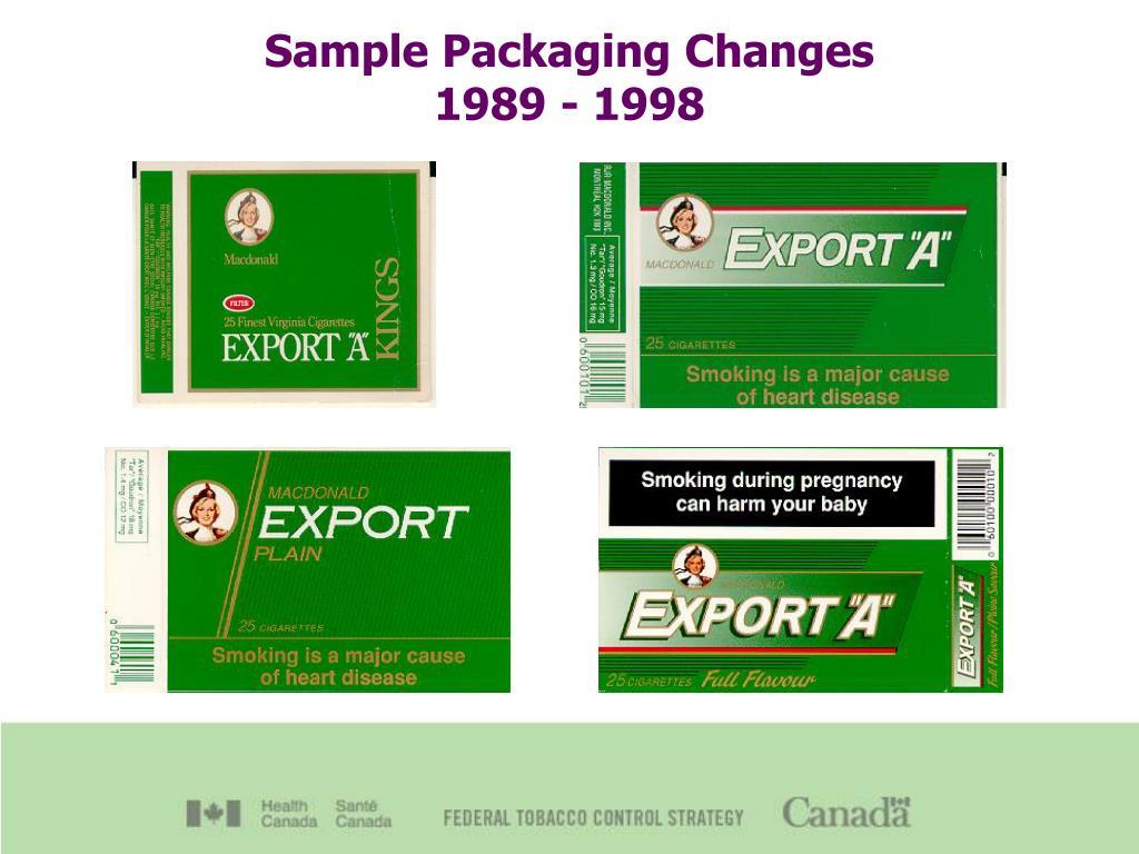 Sample Packaging Changes