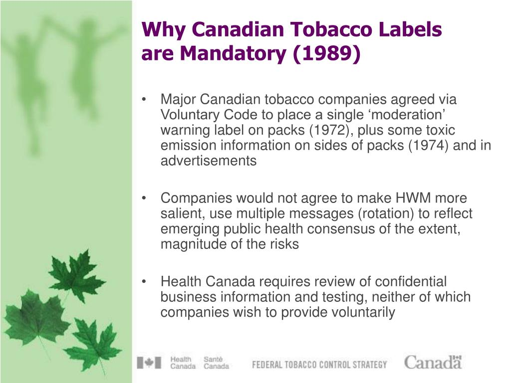 Why Canadian Tobacco Labels