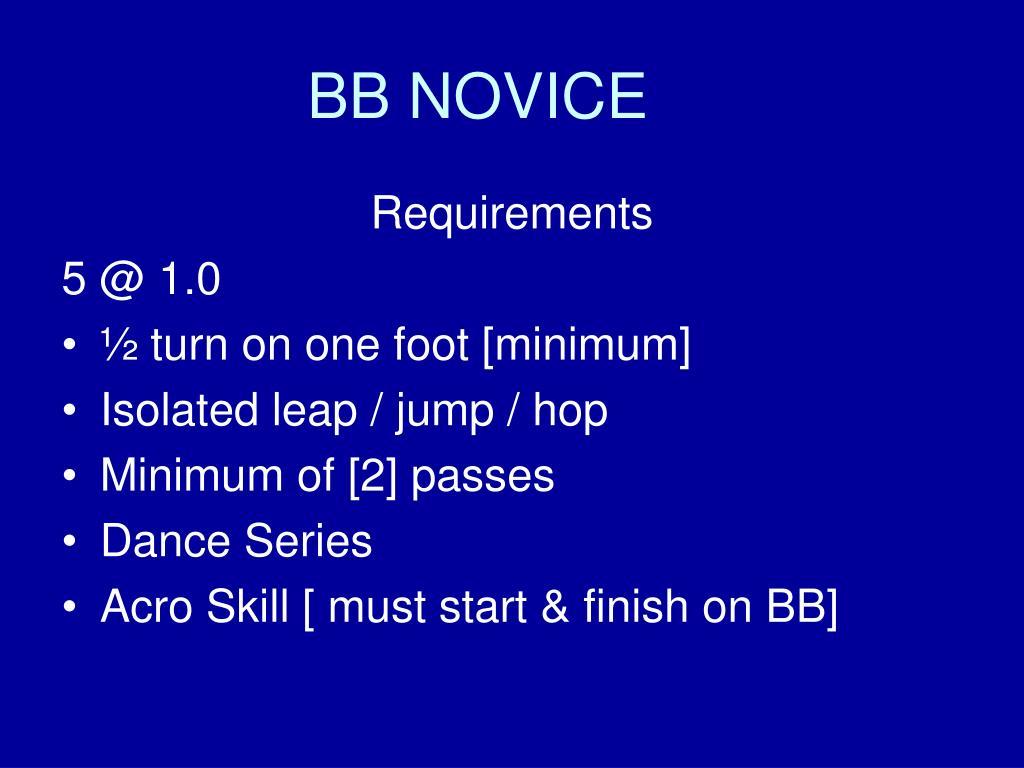 BB NOVICE