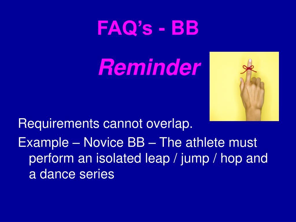 FAQ's - BB