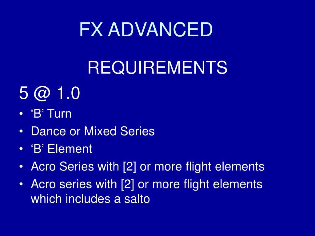FX ADVANCED