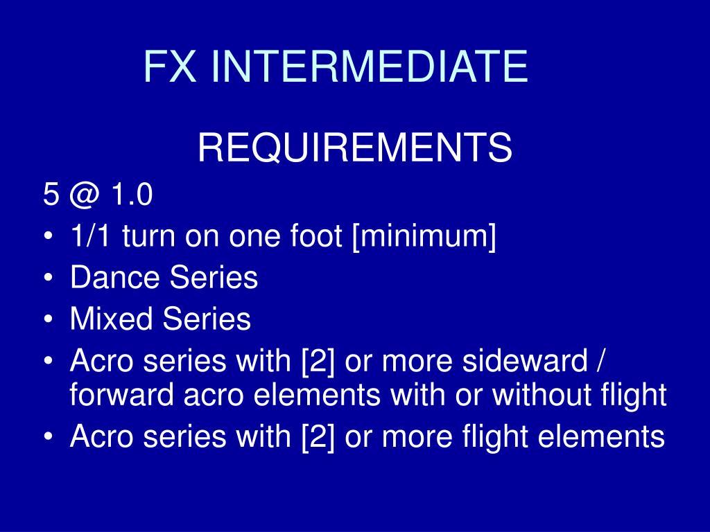FX INTERMEDIATE