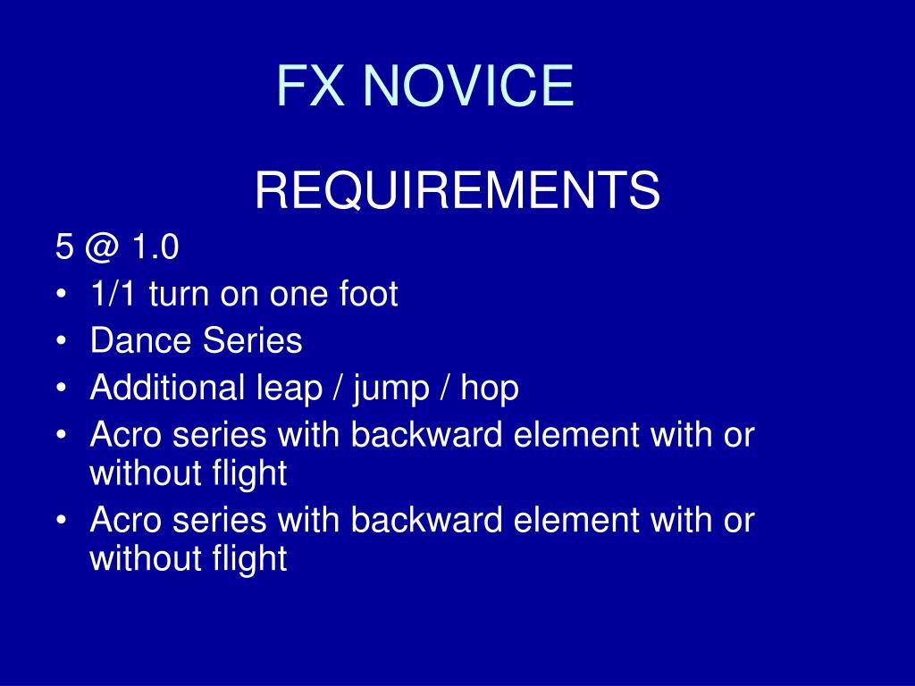 FX NOVICE