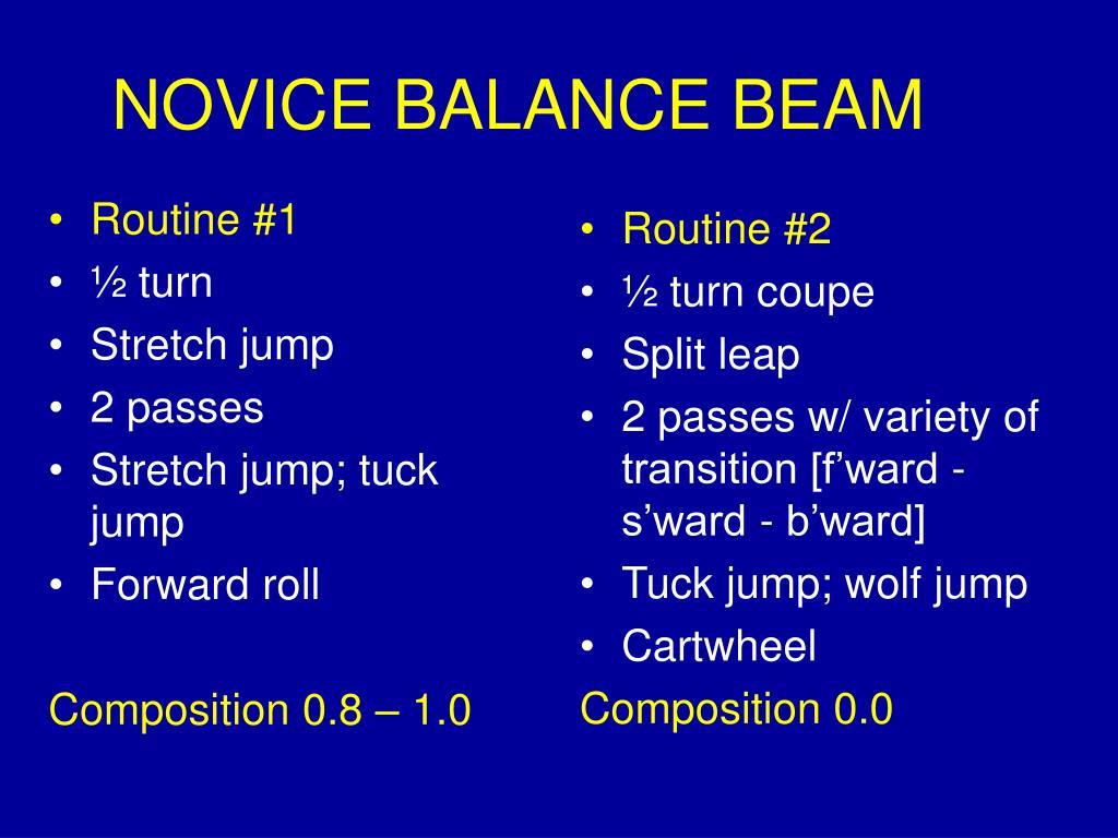 NOVICE BALANCE BEAM