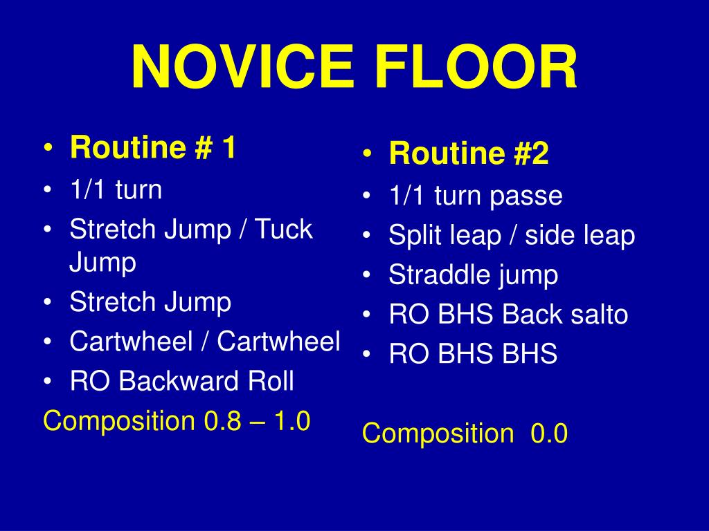 NOVICE FLOOR