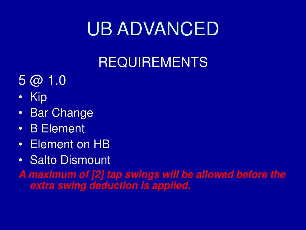 UB ADVANCED