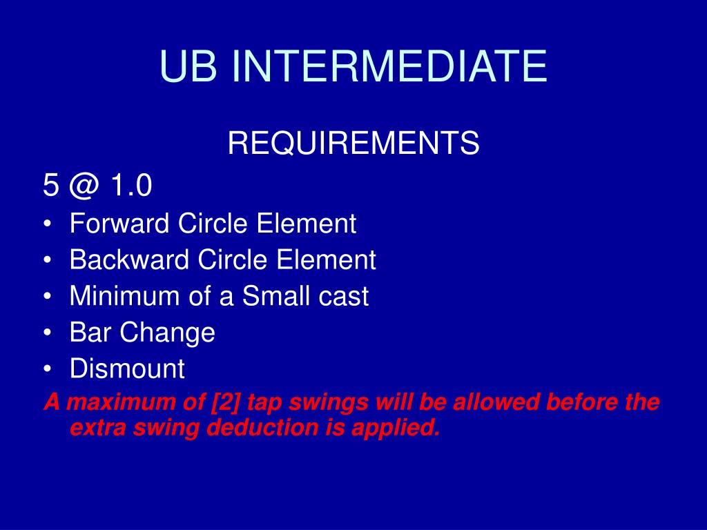 UB INTERMEDIATE