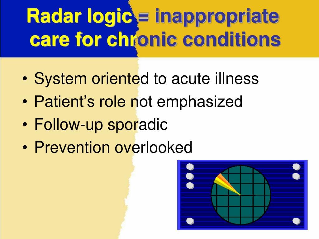 Radar logic