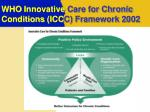 who innovative care for chronic conditions icc c framework 2002