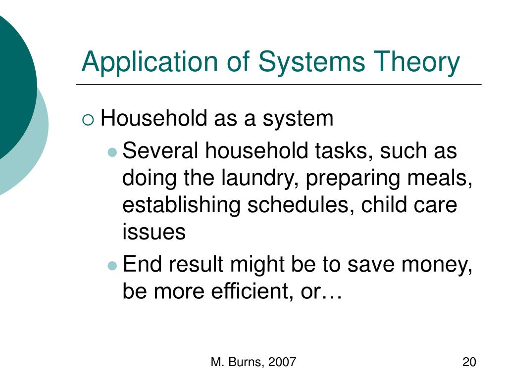 Application of Systems Theory