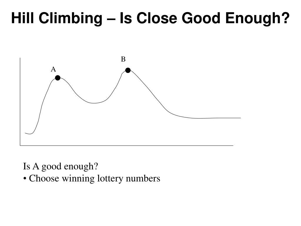 Hill Climbing – Is Close Good Enough?