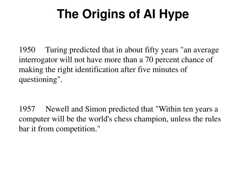 The Origins of AI Hype