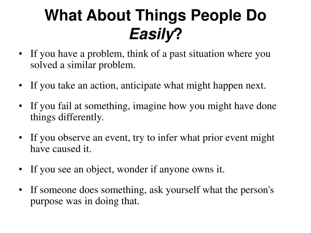 What About Things People Do