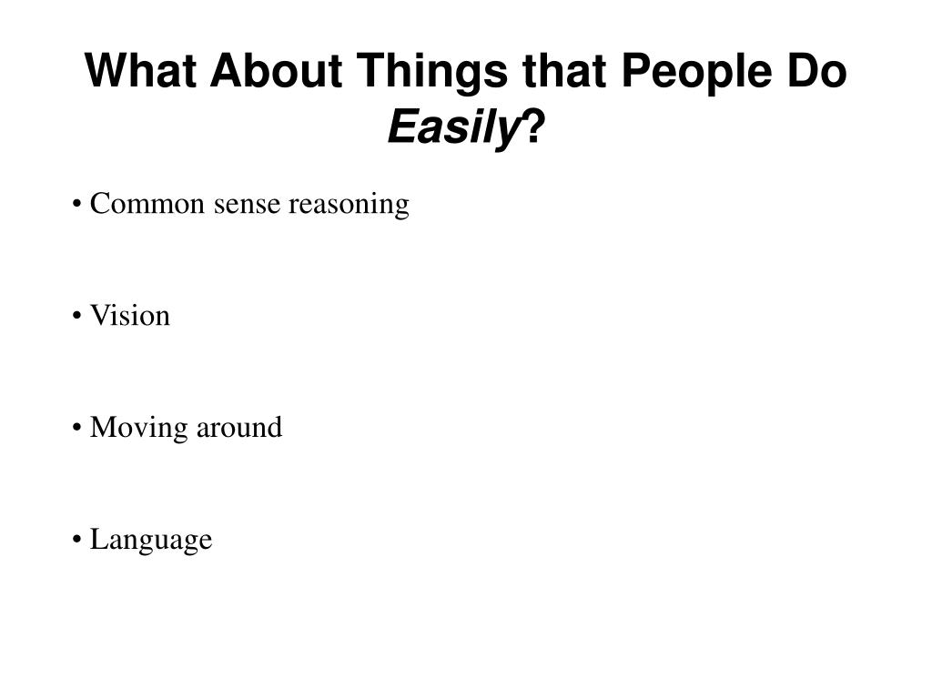 What About Things that People Do