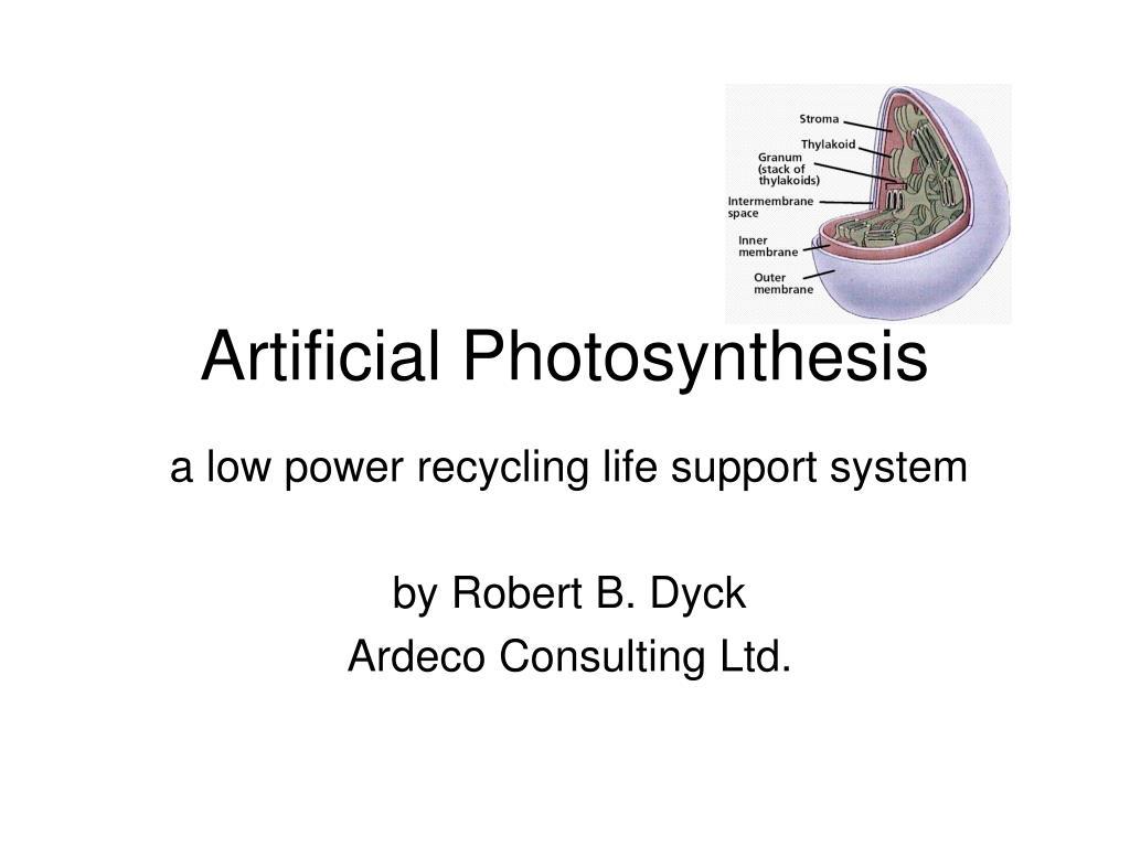 Artificial Photosynthesis