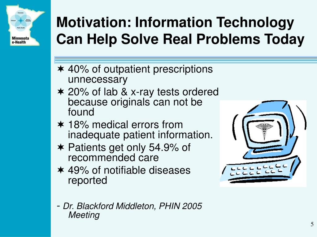 Motivation: Information Technology Can Help Solve Real Problems Today