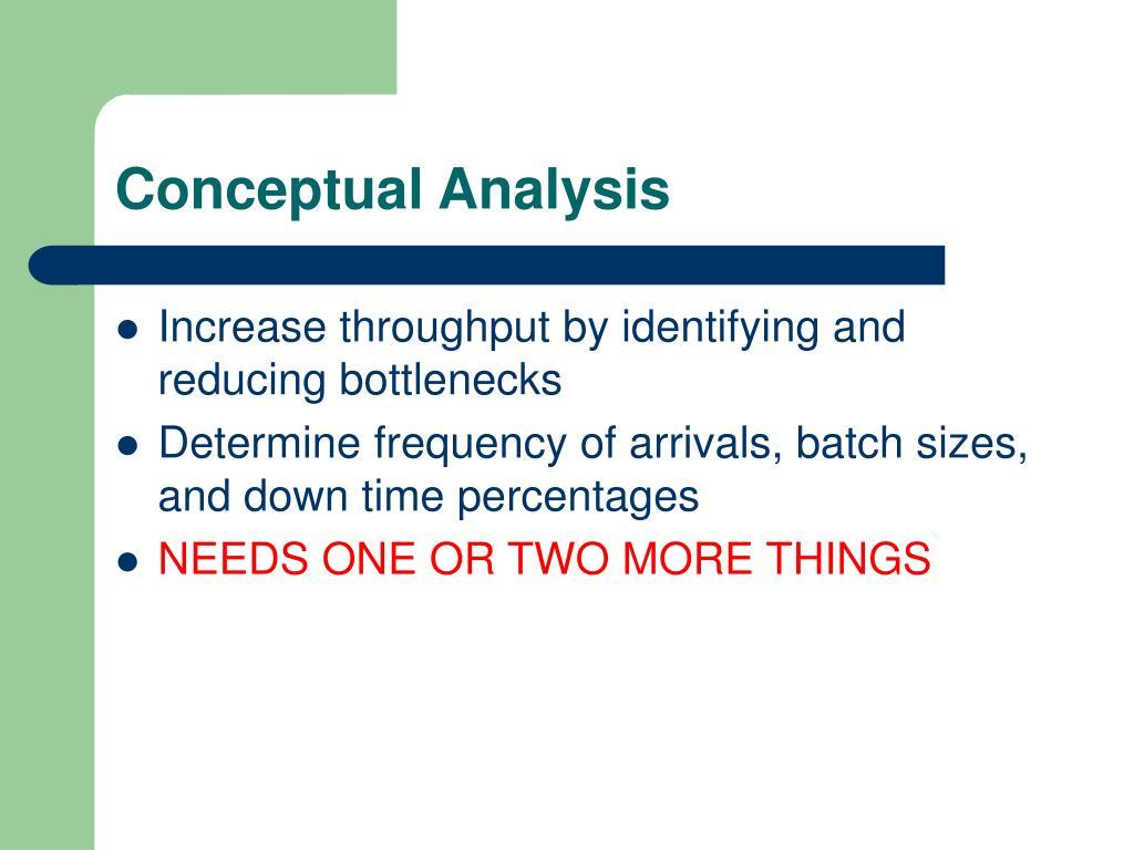 Conceptual Analysis