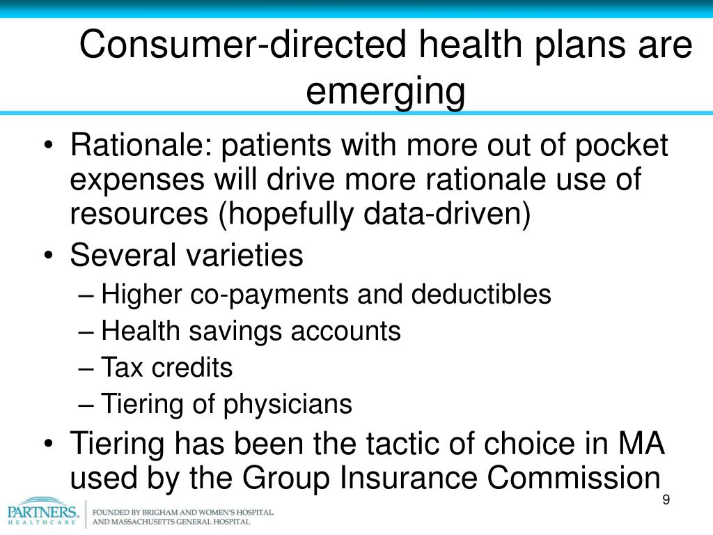 Consumer-directed health plans are emerging
