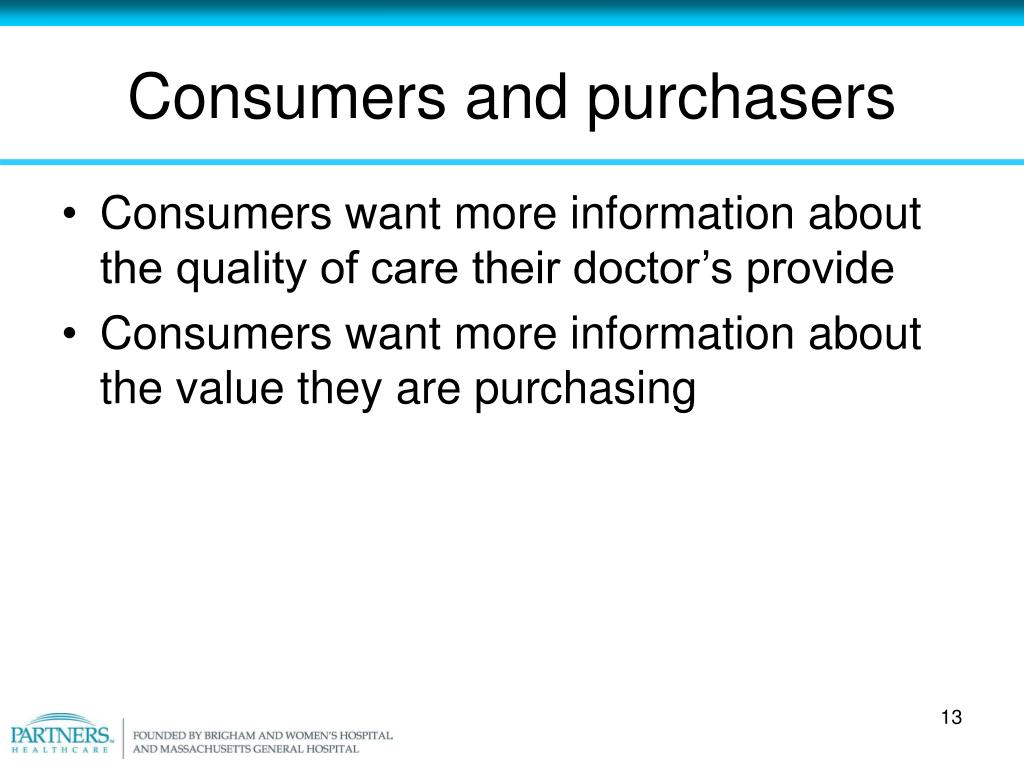 Consumers and purchasers