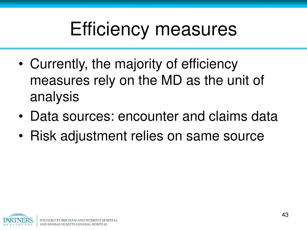 Efficiency measures