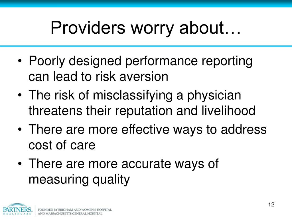 Providers worry about…