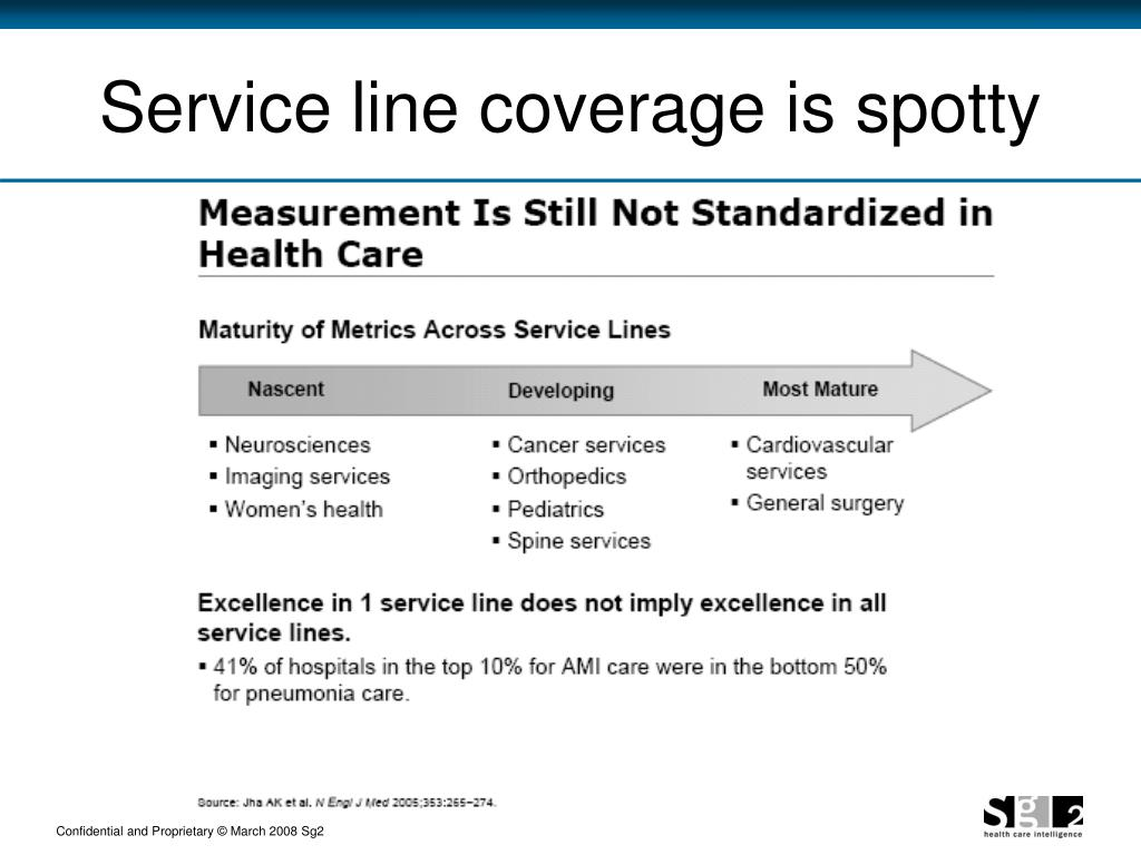 Service line coverage is spotty