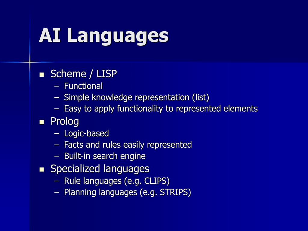 AI Languages
