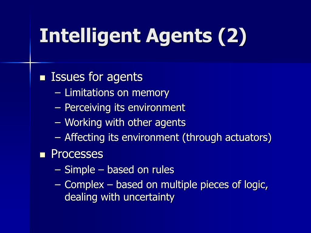 Intelligent Agents (2)