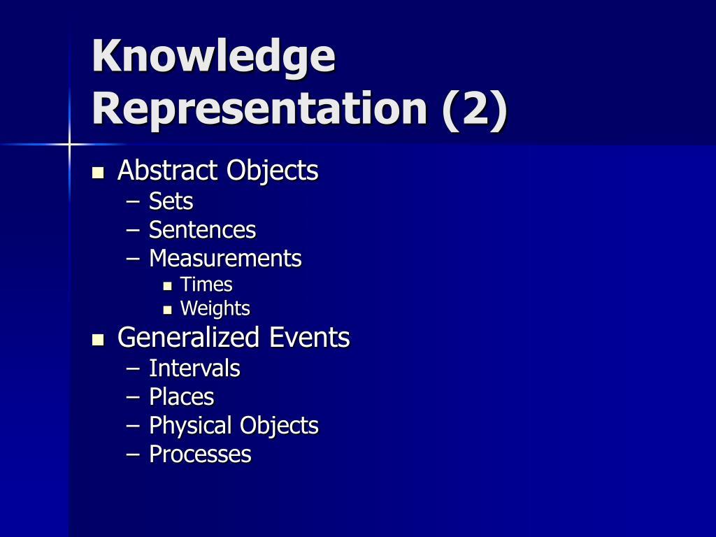 Knowledge Representation (2)