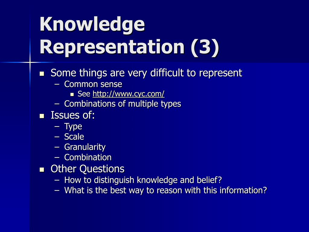 Knowledge Representation (3)