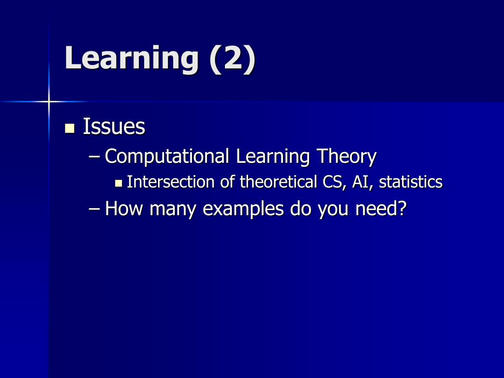 Learning (2)