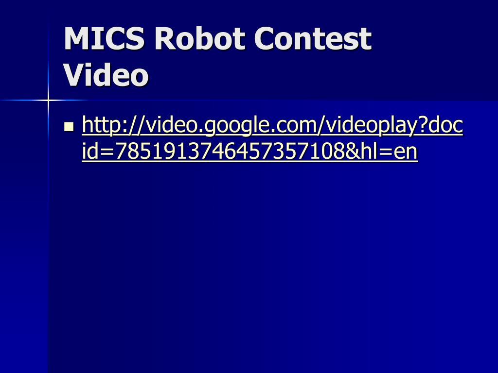 MICS Robot Contest Video