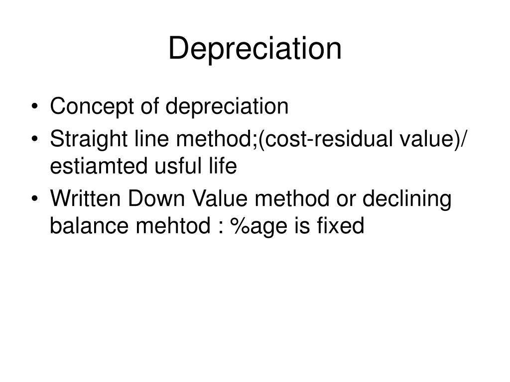 Depreciation