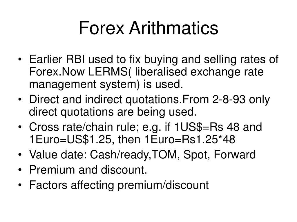 Forex Arithmatics
