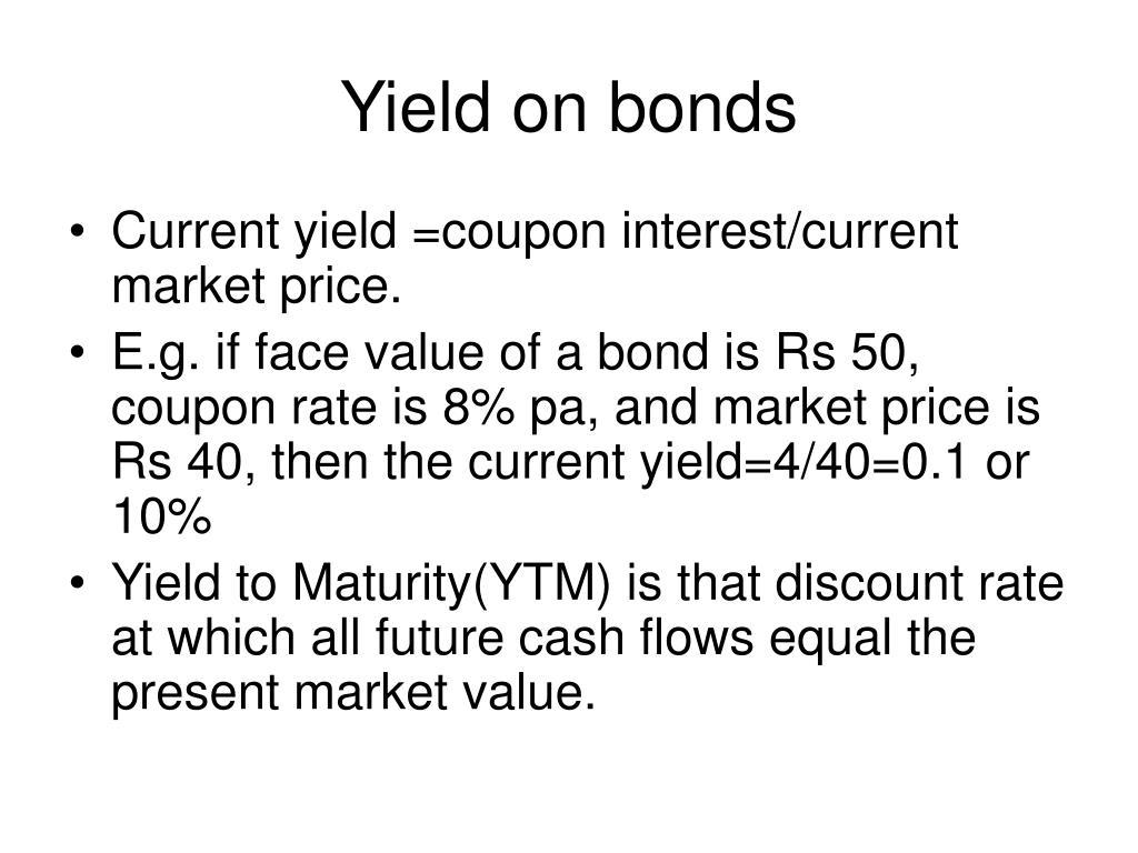 Yield on bonds