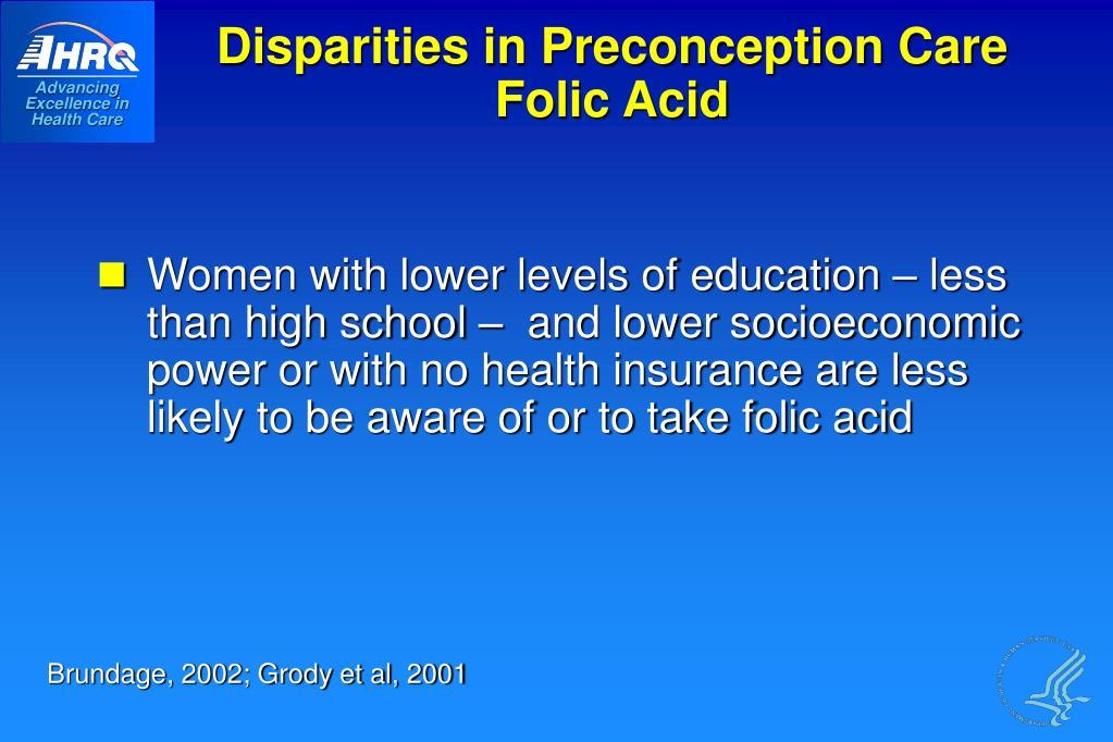 Disparities in Preconception Care