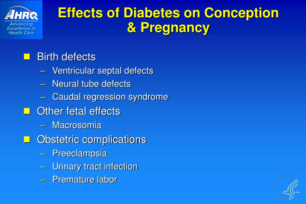 Effects of Diabetes on Conception & Pregnancy