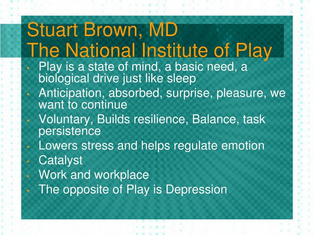 Stuart Brown, MD