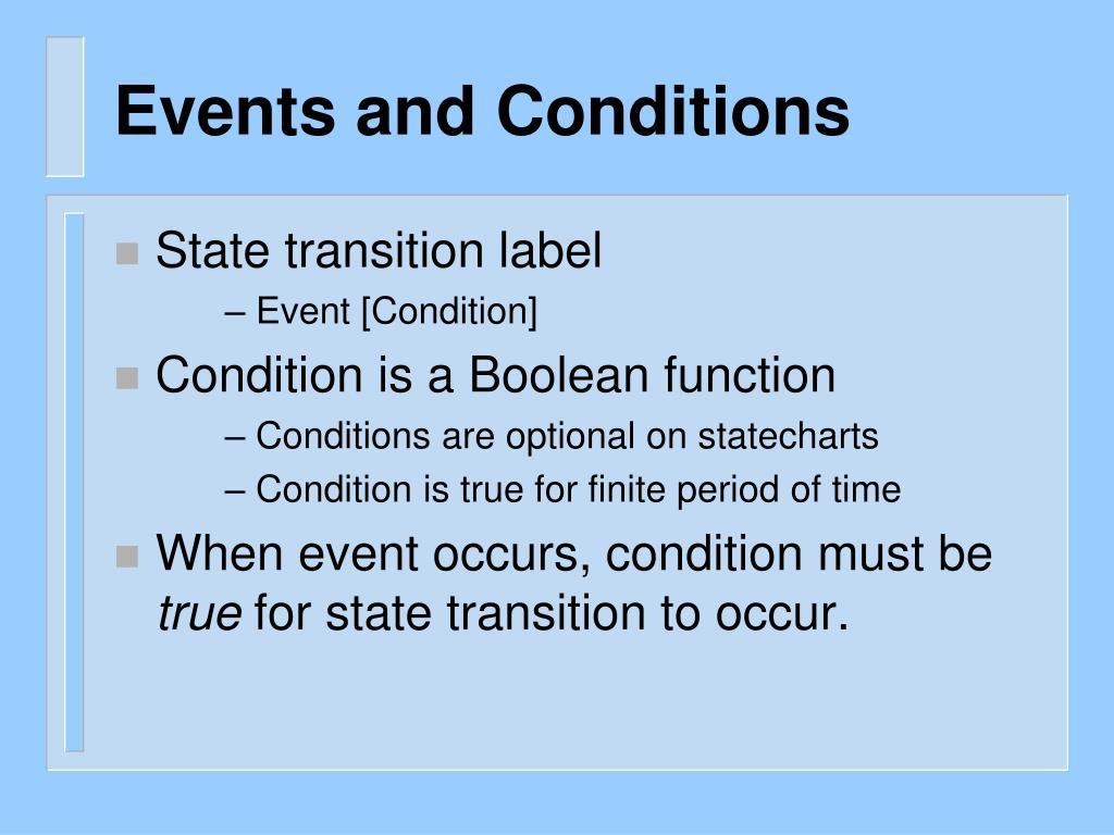 Events and Conditions