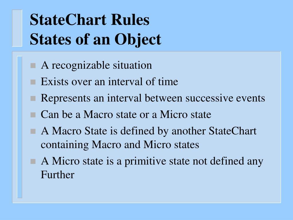 StateChart Rules