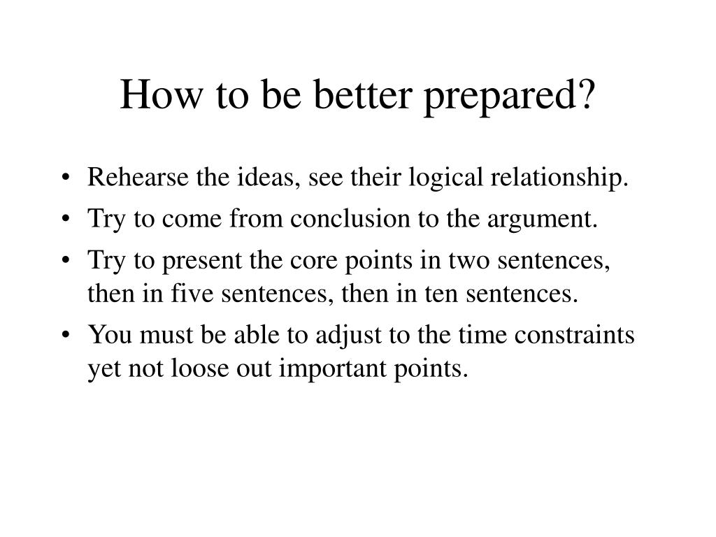 How to be better prepared?