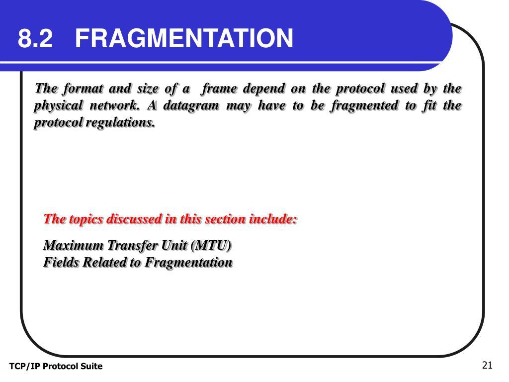 8.2   FRAGMENTATION
