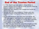 end of the trustee period