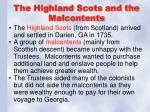 the highland scots and the malcontents