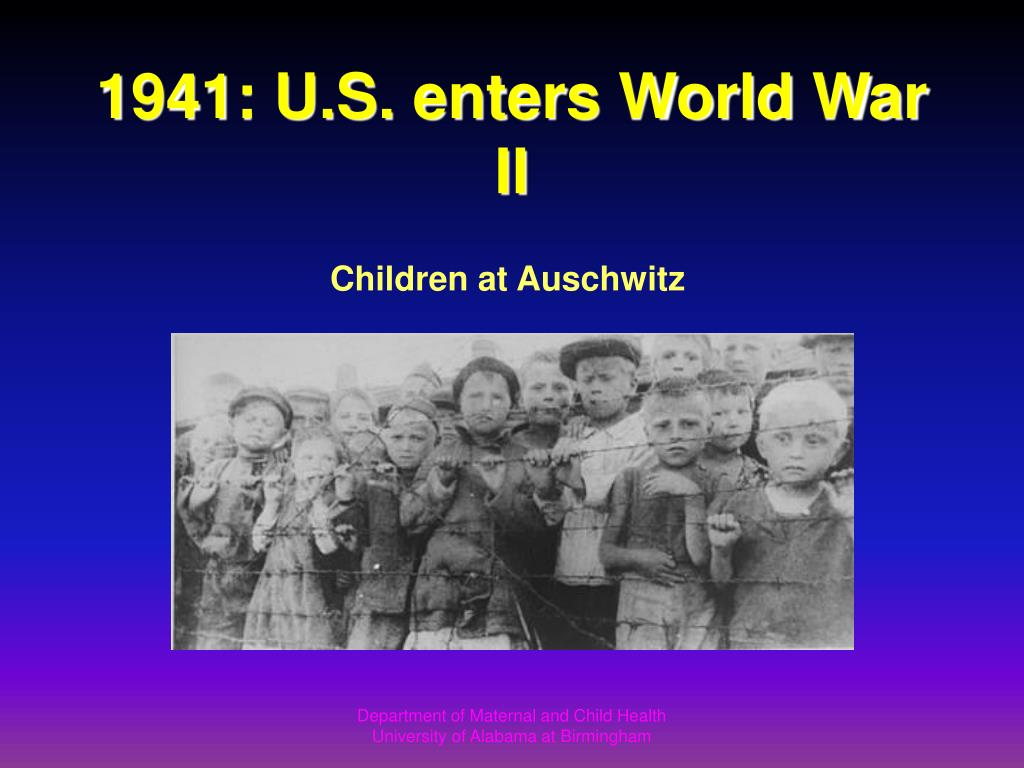 1941: U.S. enters World War II